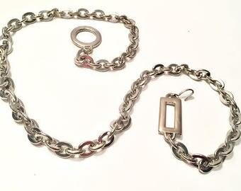 Silver Chain Belt, Silver-tone Chain Belt, Rectangle Circle Chained Belt, Vintage Chain Belt, Silver Disco Belt, Silver Boho Belt