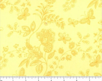 "108"" Quilt Backing Yellow Floral"