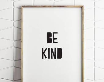 80% OFF be kind, inspirational word art, inspirational quotes, inspirational kids quotes, inspirational printable, kids art