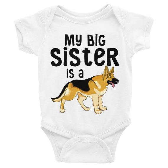 Baby clothes, Cute Baby One Piece, Baby Clothes Girls Boys, Baby Shower Gifts Newborn Clothing Big Sister My Big Sister is a German Shepherd
