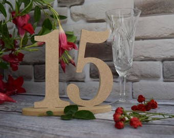 Sale 30%! Wedding table numbers Set 1-15 Wooden table numbers wood numbers unfinished numbers wedding numbers table number DIY table
