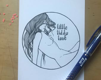 Little Tiddy Love Mini Print