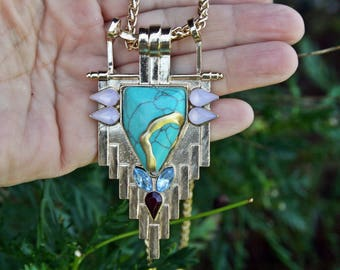 Kintsugi jewelry, kintsukuroi necklace