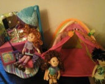Vintage Groovy Girls Totally Tentastic Tent And Sittin Pretty Beauty Salon As Well As 3 Groovy  sc 1 st  Etsy & Vintage Two groovy girls dolls/toys
