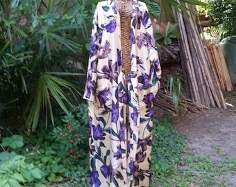 Pure silk Kimono robe