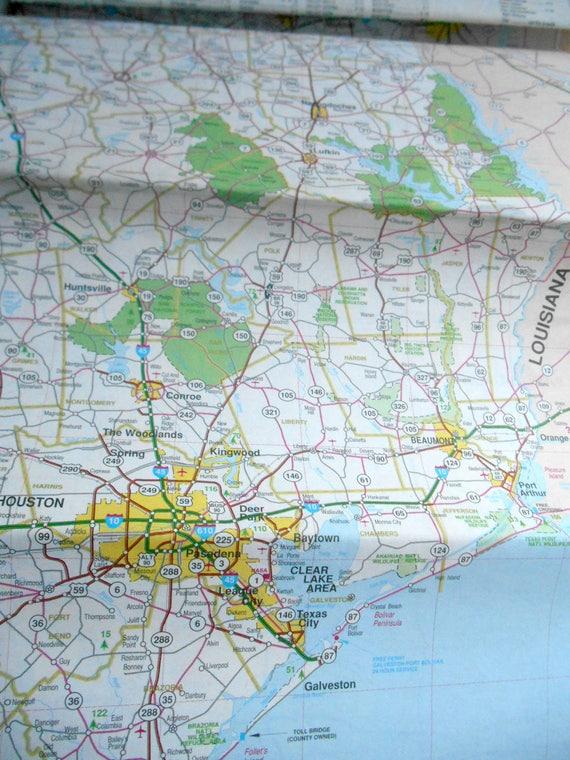 Vintage S UniversalMAP Texas Roadmap Road MAP Austin Corpus - Texas roadmap