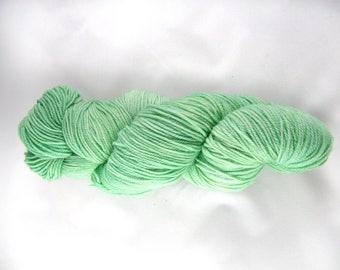 15% Silk - DK Weight - Mint Green - 75 Percent Polwarth Wool - Handdyed - Handpainted - Canadian - OOAK - 296 yards - 100g #478