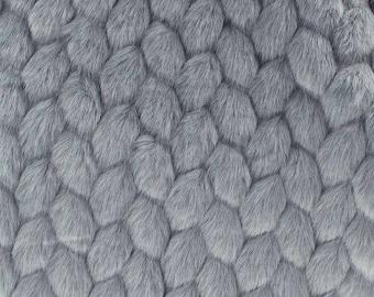 Fabric faux fur VOGUE gray fabrics n, 1/2 meter