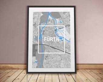 Fürth-Framed City-digital printing