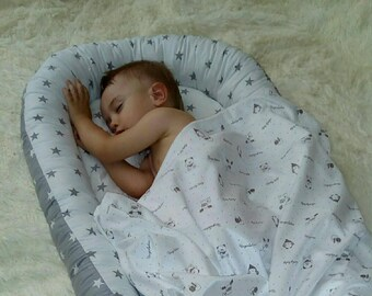 READY TO SHIP Baby Nest Pillow Removable Mattress