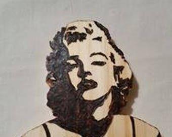 Marilyn Monroe wooden wall plaque