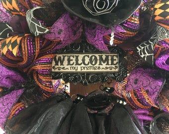 Halloween wreath,Halloween wreaths for front door,Halloween wreath witch