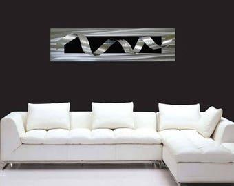 Silver and Black Artwork Twirl