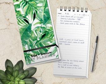 Botanical Day Planner Daily List Planner Agenda Pad