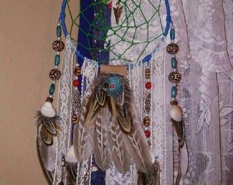 Boho Dream Catcher- Dream Catcher- Decor- Home Decor- Dorm Decor- Gifts- Housewarming Gifts- Blue Decor- Wall Art- Boho Chic Decor- Art