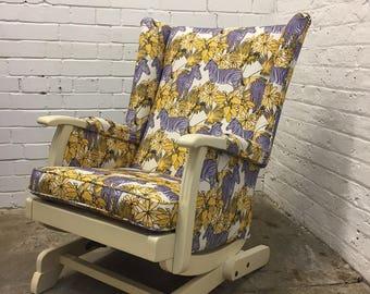 Purple Zebra Rocking Chair