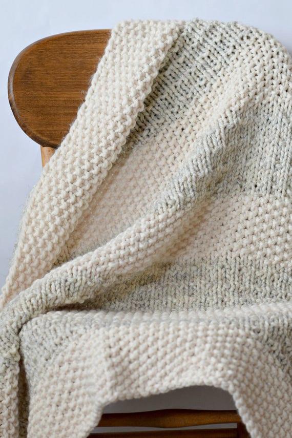 Easy Knit Blanket Pattern Knit Throw Pattern Easy Heirloom