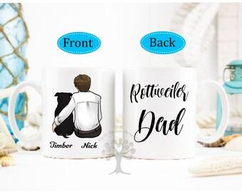 Personalized Rottweiler Mug, Rottweiler Mug, Rottweiler Gifts, Rottweiler Dad Gift, Rottweiler Parent Gift, Gift for Rottweiler Lover