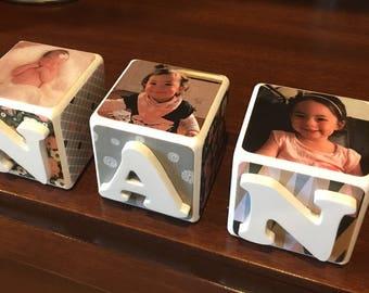 Wooden Photo Blocks - Gift - Home Decór