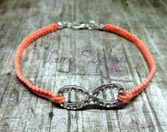 Macrium bracelet Oraneg with infinity Pendant