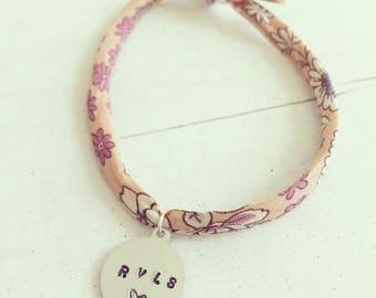 Adult custom hand-stamped Frou Frou bracelet