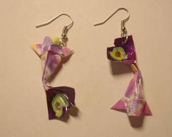 """""""Carp"""" - (CAR_010) silver hook earrings"""