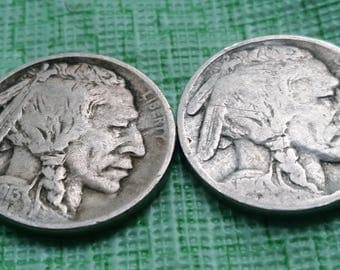 1913 and 1914 Buffalo  nickels  #A509