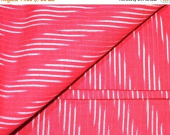 10% Off On Red and White Ikat Fabric