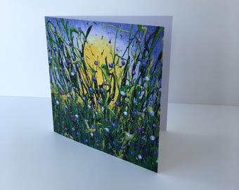 Purple Gems blank greeting card