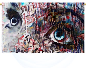 Electric feel #6 Large Wall Art print Abstract decor Beautiful eyes Prints