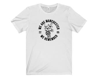 Manchester Bee 011 We Are Manchester Manchester Arena Streetwear Manchester Pride Tshirt 90S Hip Hop Clothing