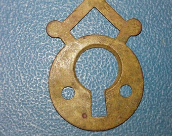 Vintage brass  lock plates of the 19-20th century