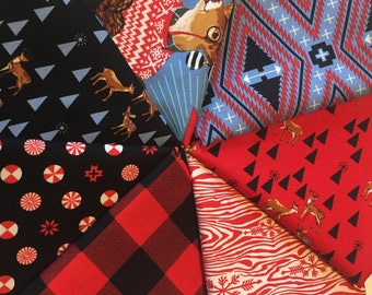 Holiday Homies Red FQ Bundle by Tula Pink