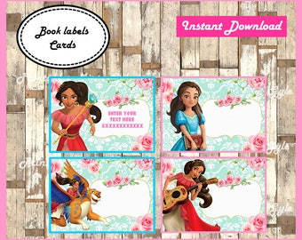 Elena of Avalor School label - name label - name tag sticker - Back To school label - book label - this belongs to label INSTANT DOWNLOAD