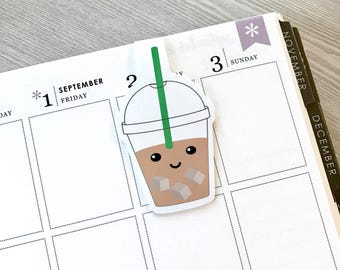 Iced Coffee Magnetic Bookmark (Large)