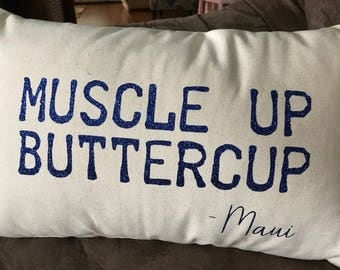 Muscle Up Butter Cup -  Pillow Cover