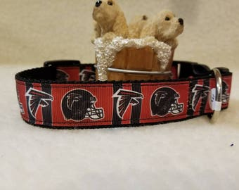 Falcons Handmade Dog Collar 1 Inch Wide Large & Medium