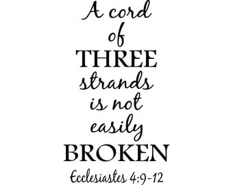 A cord of THREE strands is not easily BROKEN – SVG Cut File (mtc, svg, pdf, eps, ai, dxf, png & jpg) ~ DIGIDOWN065