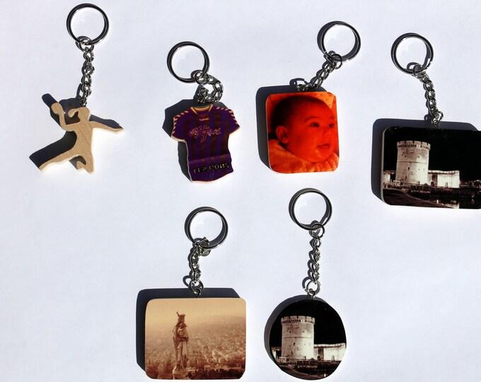 Keychain - Customizable Photo form size