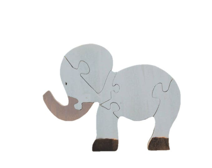 3d elephant plain or personalized kids puzzle