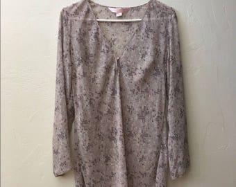 1990's Victoria's Secret Chiffon Nightgown (Small) • Vintage Nightie • Victoria's Secret Pink Label