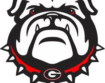 Georgia Bulldogs svg, American football svg, NFL svg files for cricut, digital download