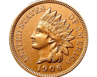 1906 Indian Head Cent - AU / BU - 3 1/2 Diamonds