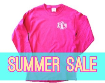 SUMMER SALE Monogrammed Long Sleeve Shirt
