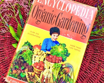 """Vintage 1970s Book, """"Encyclopedia of Organic Gardening"""", Vintage Gardening Book, Vintage Organic Gardening How-To Book"""