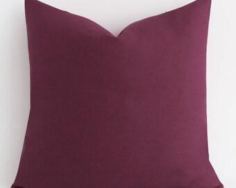 Dark Pink Pillow Cover Solid Pink Pillow Cover farmhouse pillows, decorative pillows, throw pillows, designer pillows, decorative pillows