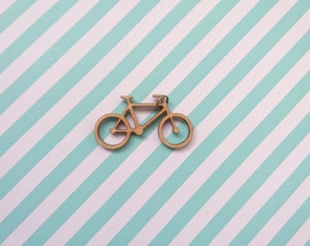 Wooden Lasercut Bicycle Pendant, Cycling, Outdoors, Nature, Sports