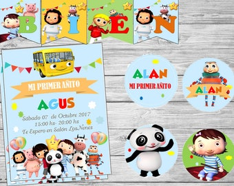 Printable Kit The wheels of the bus (Little Baby Bum)