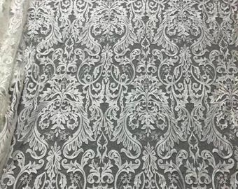 Fashion Bridal Lace Fabric Guipure lace fabric, French Lace, Embroidered lace, Wedding Lace,Royal blue flower lace fabric,dress lace