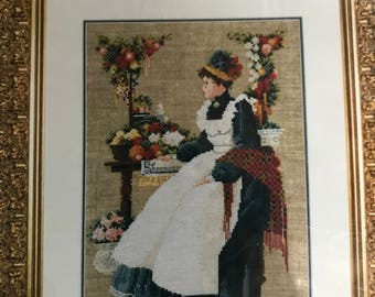 Vintage Lavender & Lace County Fair Counted Cross Stitch Pattern